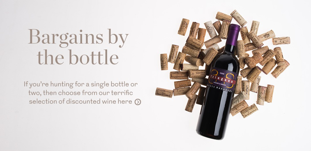 Bin End Wines up to 50 percent savings by the bottle