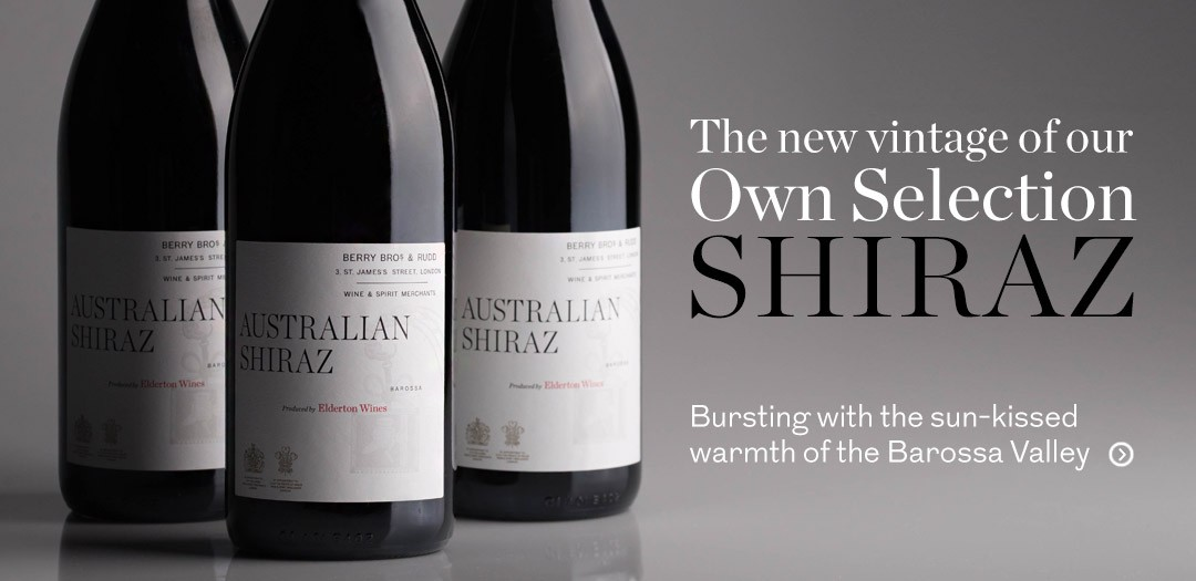 New vintage BOS Shiraz available at Berry Bros. & Rudd