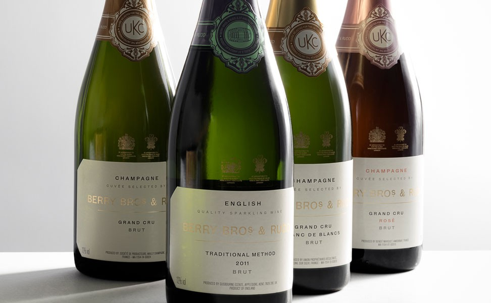 Champagne and Sparkling wines available at Berry Bros. & Rudd