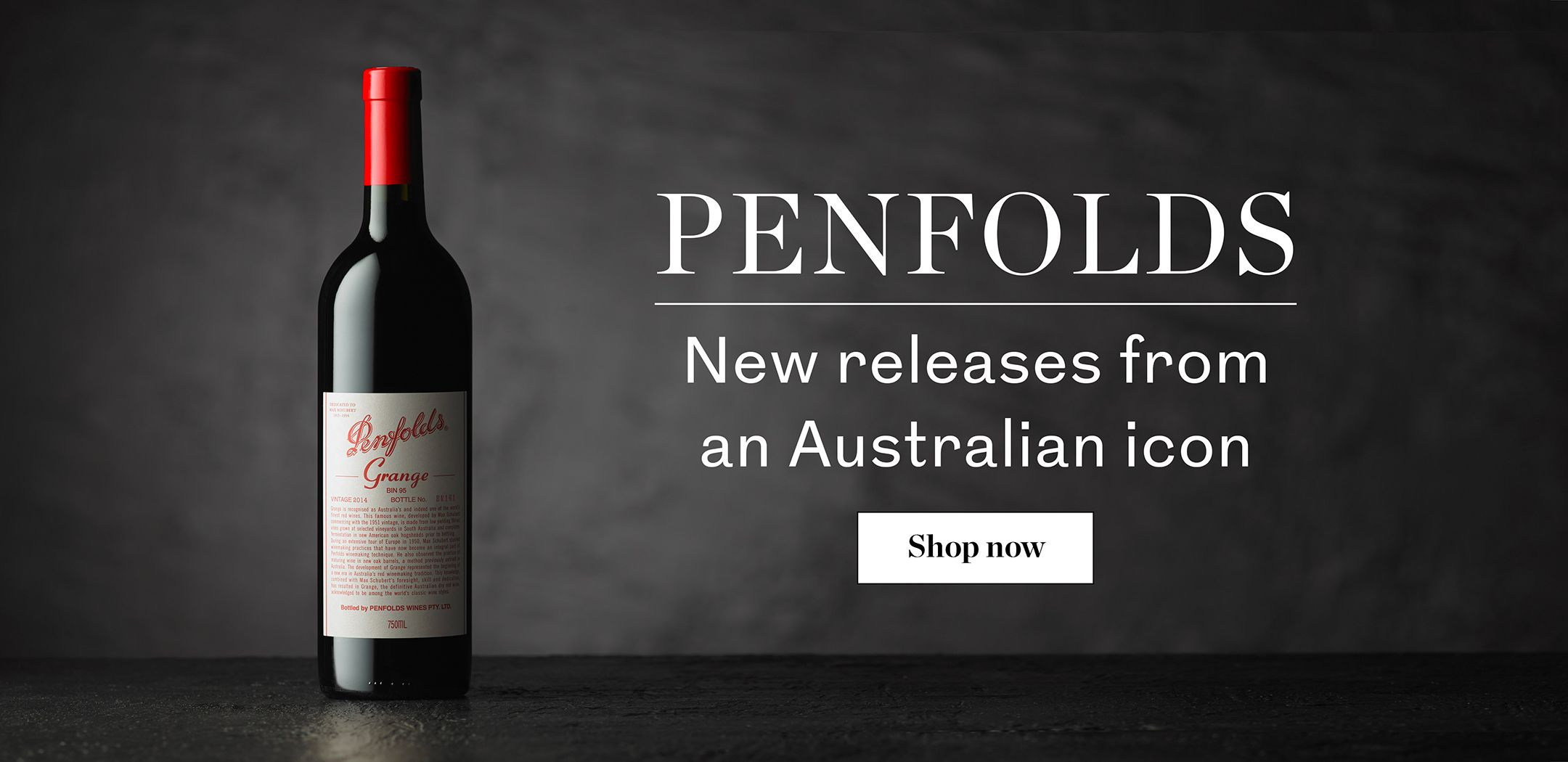 Explore the new releases from Penfolds including the Iconic Grange. Available at Berry Brothers and Rudd