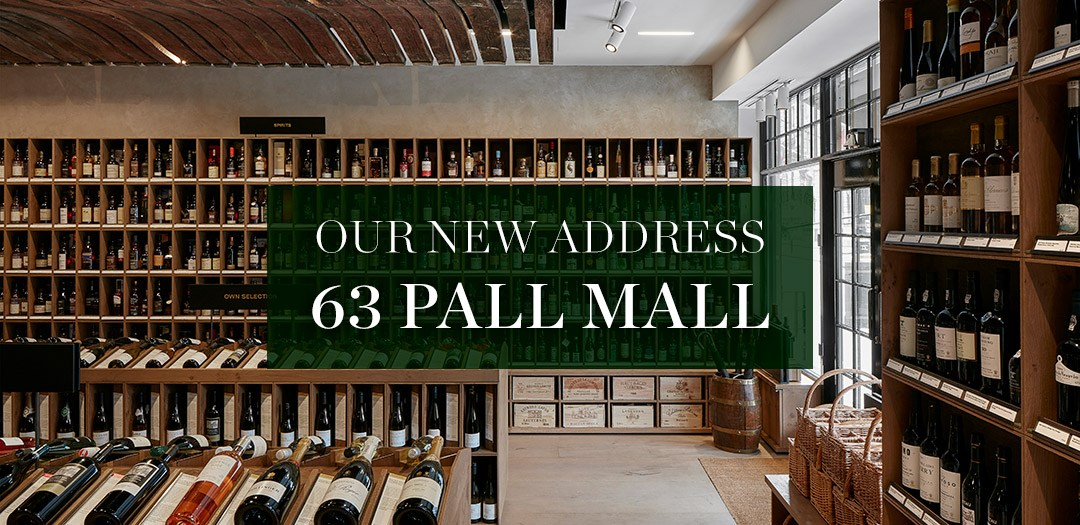 Just opened, our London shop at 63 Pall Mall features a range of over 1,300 wines and spirits, from £10 to £10,000 a bottle