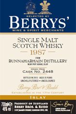 1987 Berrys' Own Selection Bunnahabhain, Islay, Single Malt Whisky