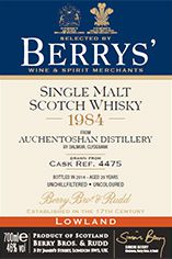 1984 Berrys' Own Selection Auchentoshan, Lowlands, Single Malt Whisky (46%)