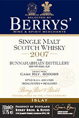 2007 Berrys' Own Selection Bunnahabhain, Islay, Single Malt Whisky  57.7%