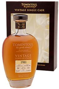 1981 Tomintoul Single Cask, Bottled 2014 Speyside, Single Malt Whisky 50.5%