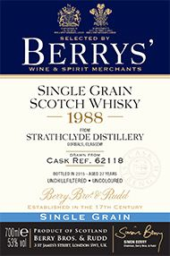 1988 Berrys' Own Selection Strathclyde Single Grain Whisky, 53.0%