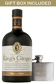 The King's Ginger & Mini Hip Flask, Gift Box