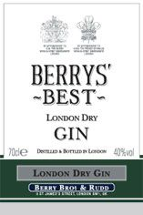 Berrys' Best London Dry Gin