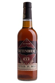 Rittenhouse, Bottled-In-Bond, 100 Proof, Straight Rye Whiskey 50%