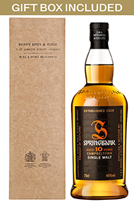 Springbank 10-year-old, Sinlgle Malt Scotch Whisky, 46% Gift Boxed