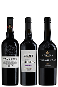 2017 Vintage Port Trio Pack, 1x Taylors, 1xFonseca, 1xCroft, Douro, Portugal