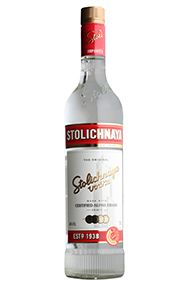 Stolichnaya Red Label, Premium Russian Vodka (40%)