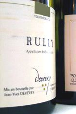 2005 Rully 1er Cru, Devevey